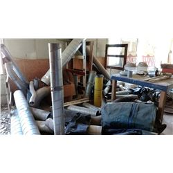 ALM VENT PIPE & ATTACHMENTS ./ WORK TABLE LOT