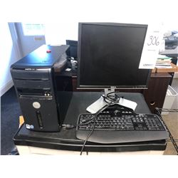 Dell Monitor, Logitech Keyboard, Dell Tower
