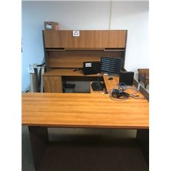 3 Pc Office Desk w/ Top and Bottom File Cabinets