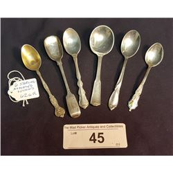6 Assorted Sterling Spoons