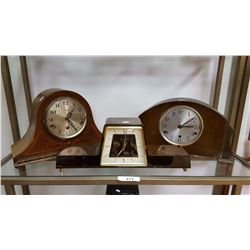 3 Vintage Mantel Clocks