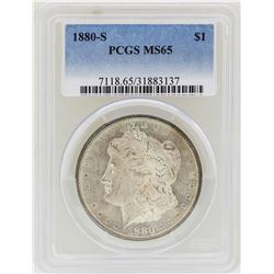 1880-S $1 Morgan Silver Dollar Coin PCGS MS65