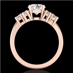 2.1 CTW VS/SI Diamond Solitaire Ring 18K Rose Gold - REF-465Y2K - 36942