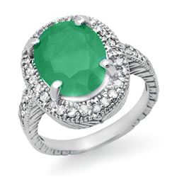 2.60 CTW Emerald & Diamond Ring 14K White Gold - REF-89K3W - 14109