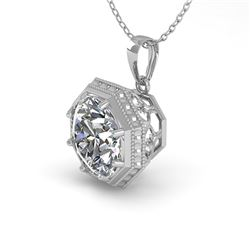 0.50 CTW VS/SI Diamond Solitaire Necklace 18K White Gold - REF-97Y3K - 35991