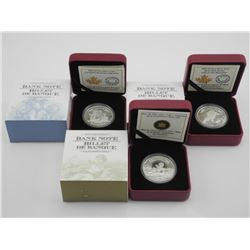 Lot (3) RCM .9999 Fine Silver $5.00 Coins 'Banknot