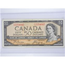 Bank of Canada 1954 $50.00 Devil's Face (IXR).