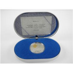 .925 Silver $20.00 Proof Coin Silver Dart w/24kt Gold Cameo