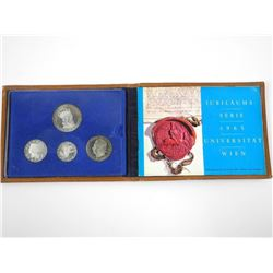 1965 Silver Coin Set Austria with Leather Case