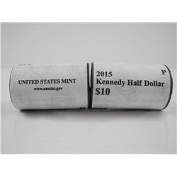 Lot (2) Kennedy 1/2 Dollars Mint Rolls '2015' Orig