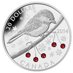 .9999 Fine Silver $20 Coin - Winter Berries.