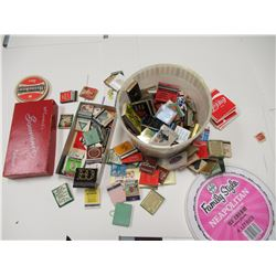 Matchbooks and coasters