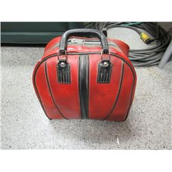 Vintage Bowling Ball & Bag