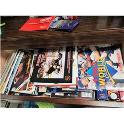 Drawer Full of Sports Programs, mostly Canucks