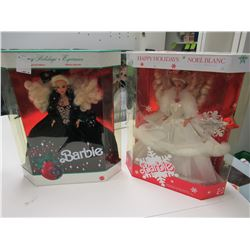 1989 & 1991 Happy Holiday Barbies
