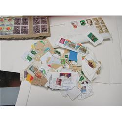 Shoebox full of used stamps