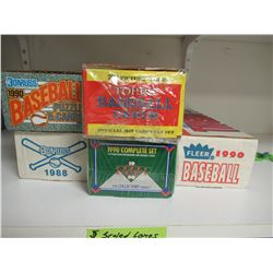 5 Sealed Boxes of Baseball Cards