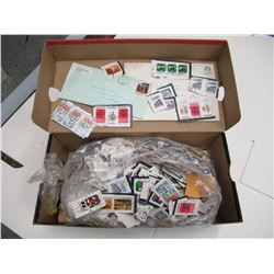 Box of Used Stamps