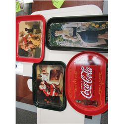4 Coca-Cola Trays
