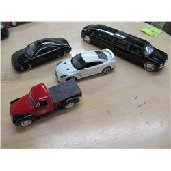 Lot of 4 Diecast Cars