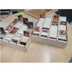 2 boxes of NFL & NBA sports cards