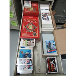 Drawer full of Donruss, UD, and OPC Premiere Baseball