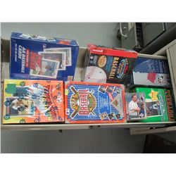 6 Unopened Boxes of Baseball & Football Cards