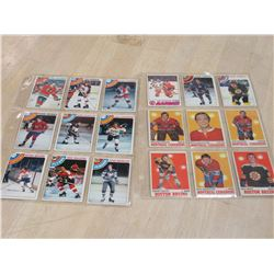 18 1970s Hockey Cards