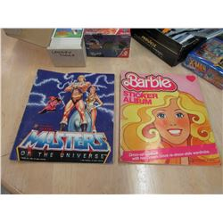Mixed Lot of Cards and Masters of the Universe He-Man and Barbie Sticker Books