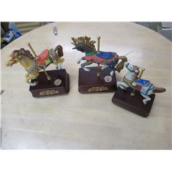 3 Carousel Horse Music Boxes