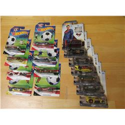 Hot Wheels Justice League & Soccer 15 cars