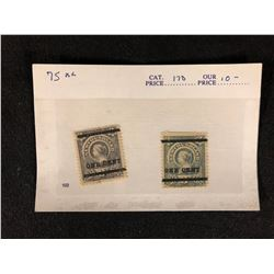 CANADIAN STAMPS LOT (NEWFOUNDLAND) 3 CENT RE-STRIKE STAMPS **ONE CENT**