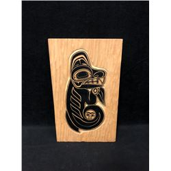 """NATIVE WOODEN WALL PLAQUE (7"""" X 12"""")"""