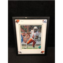 """CASEY PRINTERS SIGNED 11"""" X 14"""" FRAMED PHOTO (BC LIONS)"""