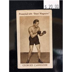 1922 BOYS MAGAZINE GEORGES CARPENTIER BOXING CARD