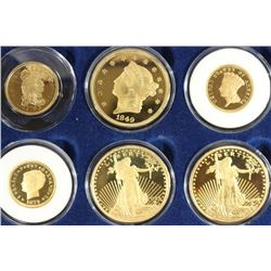 6 PIECE RARE GOLD COIN TRIBUTE SET 24KT GOLD