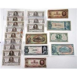 Bolivia Lot of over 40 Banknotes, ca.1928 to 1970s.