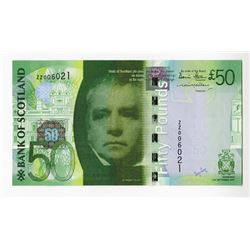 Bank of Scotland, 2007 Issued Replacement Banknote.