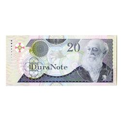 DuraNote Sample Note, ND 1990's Polymer Sample Note.