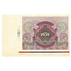 Organisation Giori, 1959 Advertising Label or Note.