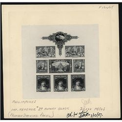 """American Bank Note Co. """"Specimen"""" Stamp Sheetlet of 8 Advertising Proof Stamps."""