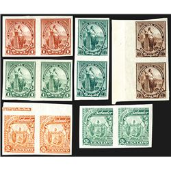 Correos Del Salvador, 1894 and 1895, Color Trial Proof Stamp Pairs From Hamilton BNC Archives - Not