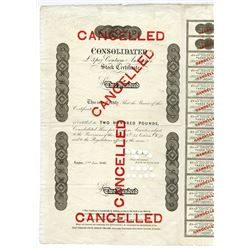 Bank of England, Consolidated 3% Annuities 1886 Cancelled Certificate.