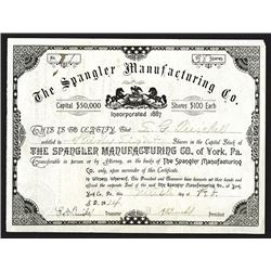 Spangler Manufacturing Co. 1914.