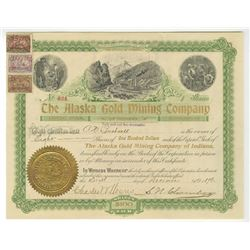 Alaska Gold Mining Co. of Indiana, 1898 Stock Certificate.