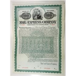 Mail & Express Co., 1907 Specimen Bond