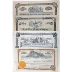 Bond & Share Assortment of 8 Different Mining & Miscellaneous Certificates.