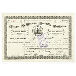 Arizona Co-Operative Mercantile Institution, Mormon related company, 1893 Stock Certificate Signed b