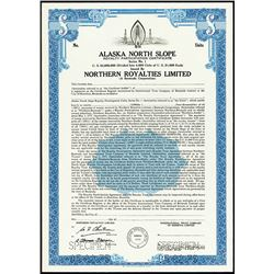 Alaska North Slope Royalty Participation Certificate, Specimen Bond.
