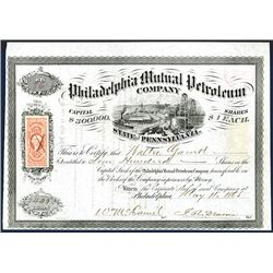 Philadelphia Mutual Petroleum Co., Issued Stock.